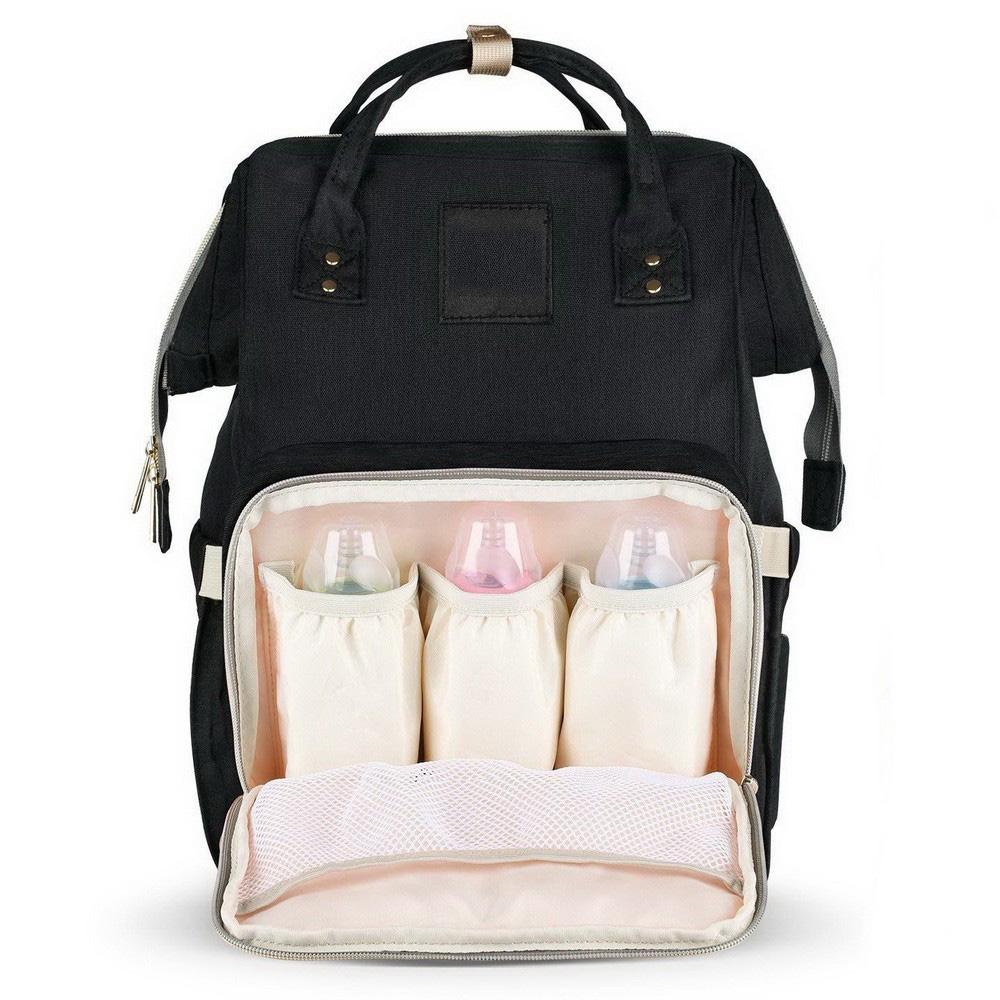 Сумка-рюкзак для мамы Baby Mo, цвет в ассорименте, Черный