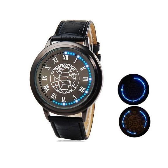 Светодиодные (LED) бизнес часы Nexer EarthСпортивные LED часы<br>Не знаете, какой подарок сделать любителю стильных аксессуаров? Если ваш возлюбленный часто носит часы, то спешите купить светодиодные (LED) бизнес часы Nexer Earth в интернет магазине Мелеон по суперцене. Изделие выглядит как нестандартный мужественный браслет, а чтобы увидеть точное время необходимо нажать на кнопку.<br>