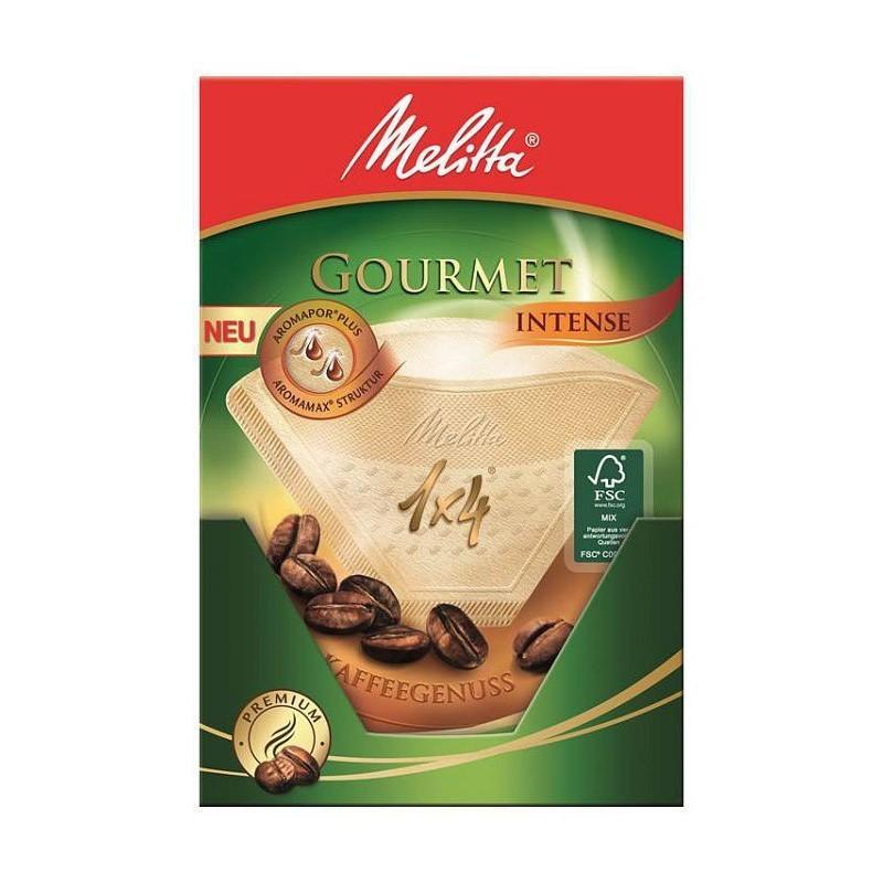 Фильтры бумажные для заваривания кофе 1х4 Гурмэ Интенс Melitta 100999
