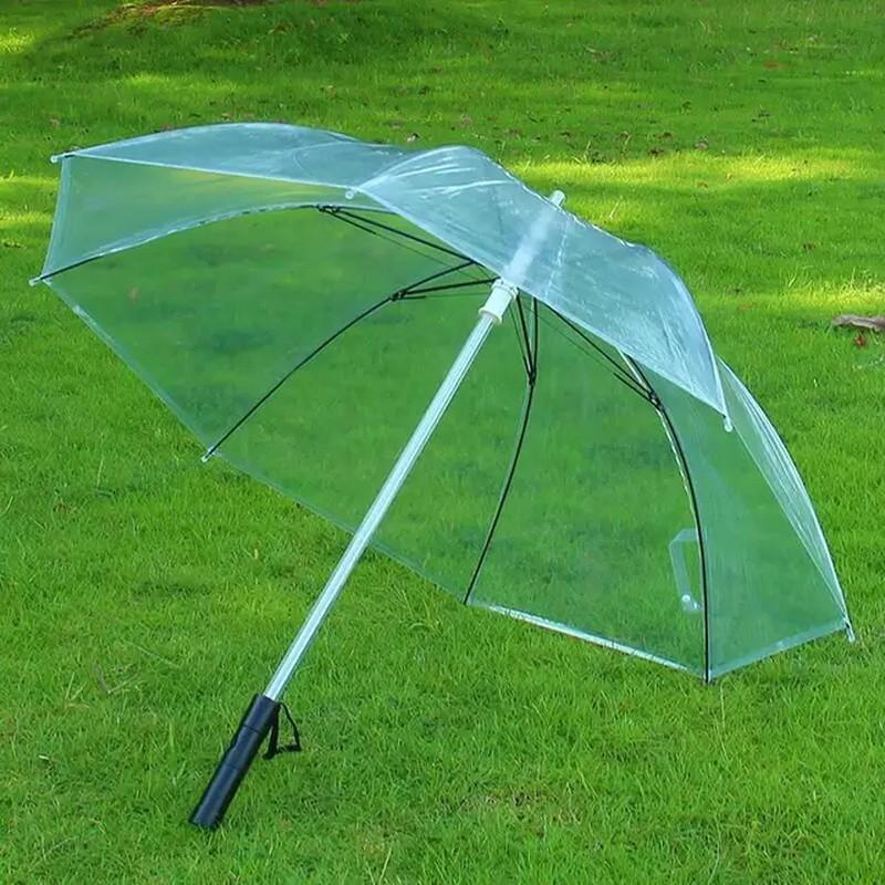 Прозрачный светящийся зонт