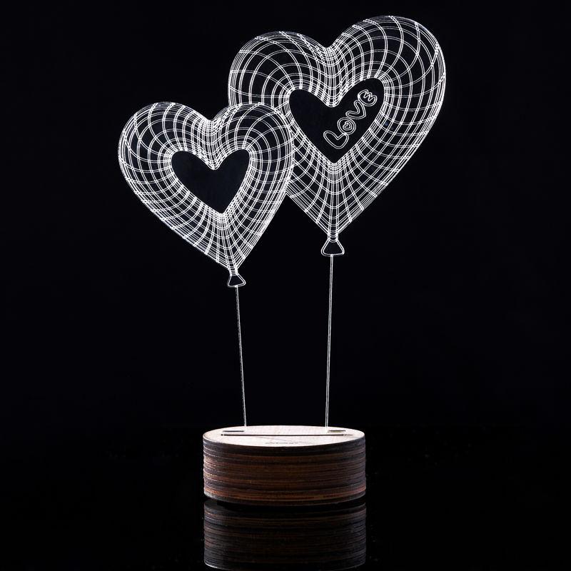 Светильники 3D - Сердечки