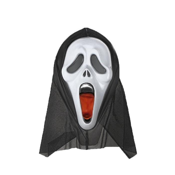 Карнавальная маска - Крик, с языком фото