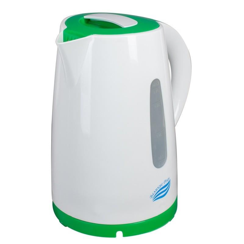 Чайник электрический Великие Реки Томь-1 белый/зеленый