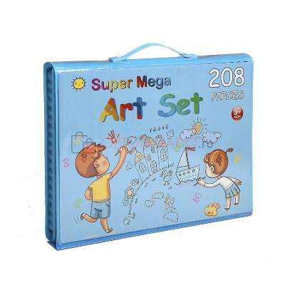 Большой набор для рисования с планшетом - Super Mega Art Set, 208 предметов, голубой фото