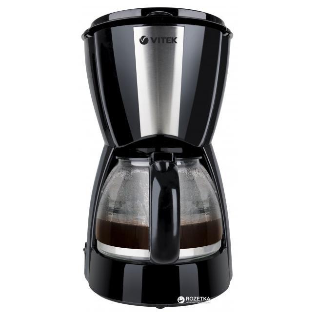 Кофеварка Vitek 1,2 литра VT-1528(BK)Кофеварки и кофемашины<br>Кофеварка Vitek VT-1528(BK) привнесет изюминку в интерьер любой кухни, а высокая производительность прибора и быстрое приготовление напитка доставит удовольствие.<br>