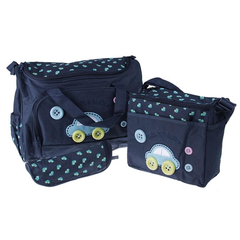 Комплект сумок для мамы Cute as a Button, 3 шт, синий