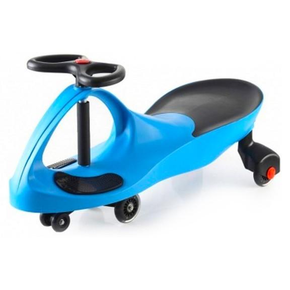 Машинка-бибикар Plasmacar (Плазмакар) - голубаяПодвижные игры<br>Представляем вашему вниманию новую, потрясающую игрушку без педалей, мотора и батареек, которая называется машинка PlasmaCar! Игрушка работает по принципу использования центробежной силы и законов гравитации. Вам же остается только крутить руль влево и вправо, разгоняясь до 10 километров в час.<br>