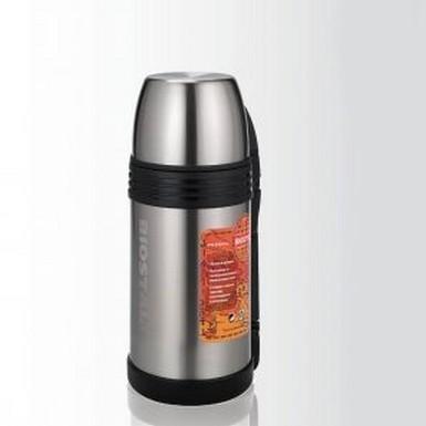 Термос Biostal NGP-1500P (1,5 л)Термосы<br>Термос 1,5 л. Biostal-Спорт 1500NGP-P – уникальный термос, который подходит как для напитков, так и для первых или вторых блюд. Дополнительная теплоизоляция обеспечивается специальной универсальной пластиковой пробкой, потому все содержимое термоса сохранит оптимальную температуру на максимально долгий период времени.<br>