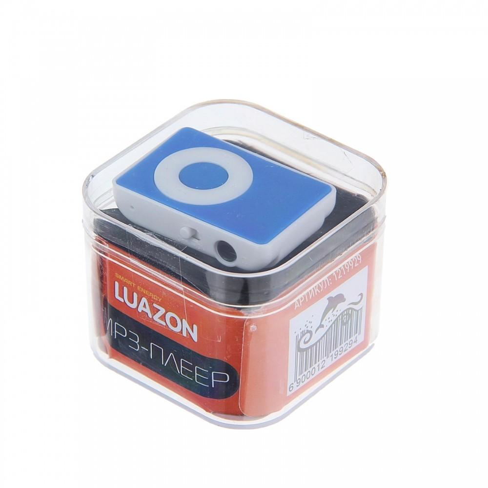 MP3-плеер Luazon LMP-01, АКБ, MicroSD, MiniUSB 5pin, цвет микс