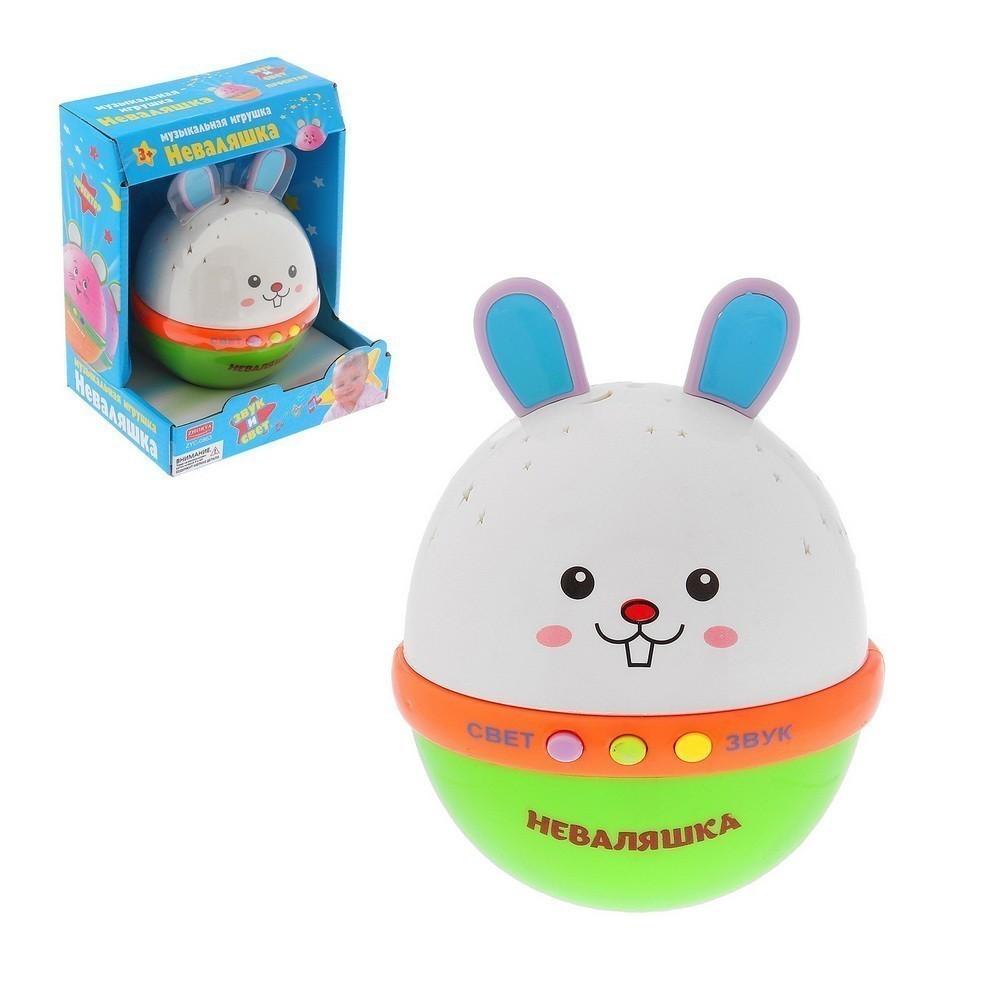 Ночник-проектор - кролик засыпайка, с русской озвучкой, световые эффекты, работает от батареек