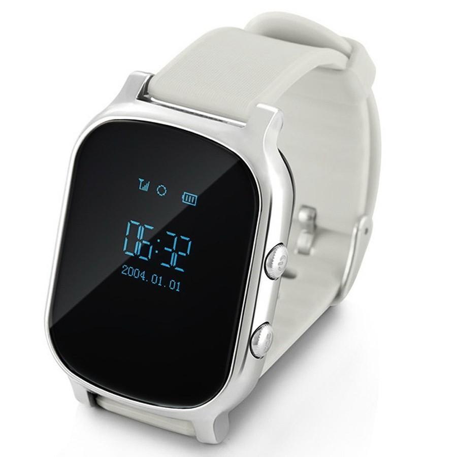 Детские часы с GPS - Smart Baby Watch T58, Серебро