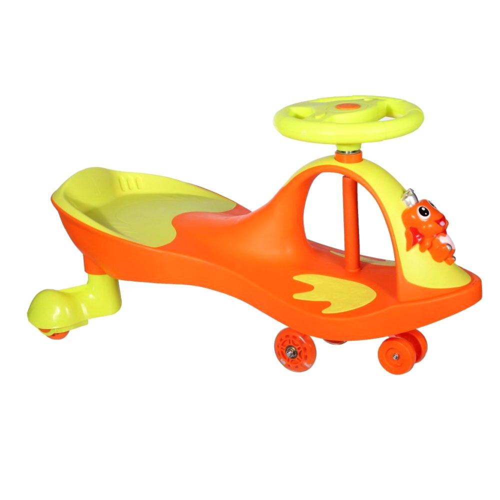Купить Машинка детская с полиуретановыми колесами - Бибикар-Лягушонок, оранжевый, Подвижные игры