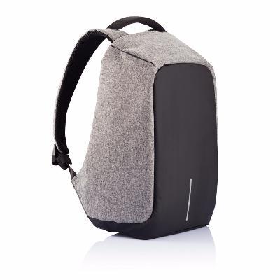 Умный рюкзак Антивор, серый ткань