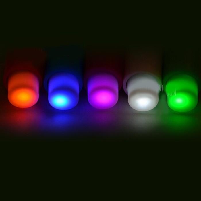 Самые маленькие LED светильники - 5 шт разного цвета фото