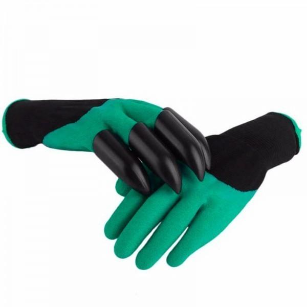 Садовые перчатки с когтями Garden Genie GlovesОстальное для дачников<br>Надоели неудобные и громоздкие садовые инструменты? Теперь можно наслаждаться работами на даче и не вспоминать о былых сложностях, благодаря инновационным садовым перчаткам с когтями Garden Genie Gloves. Посмотрите полезное изобретение для каждого садовода.<br>