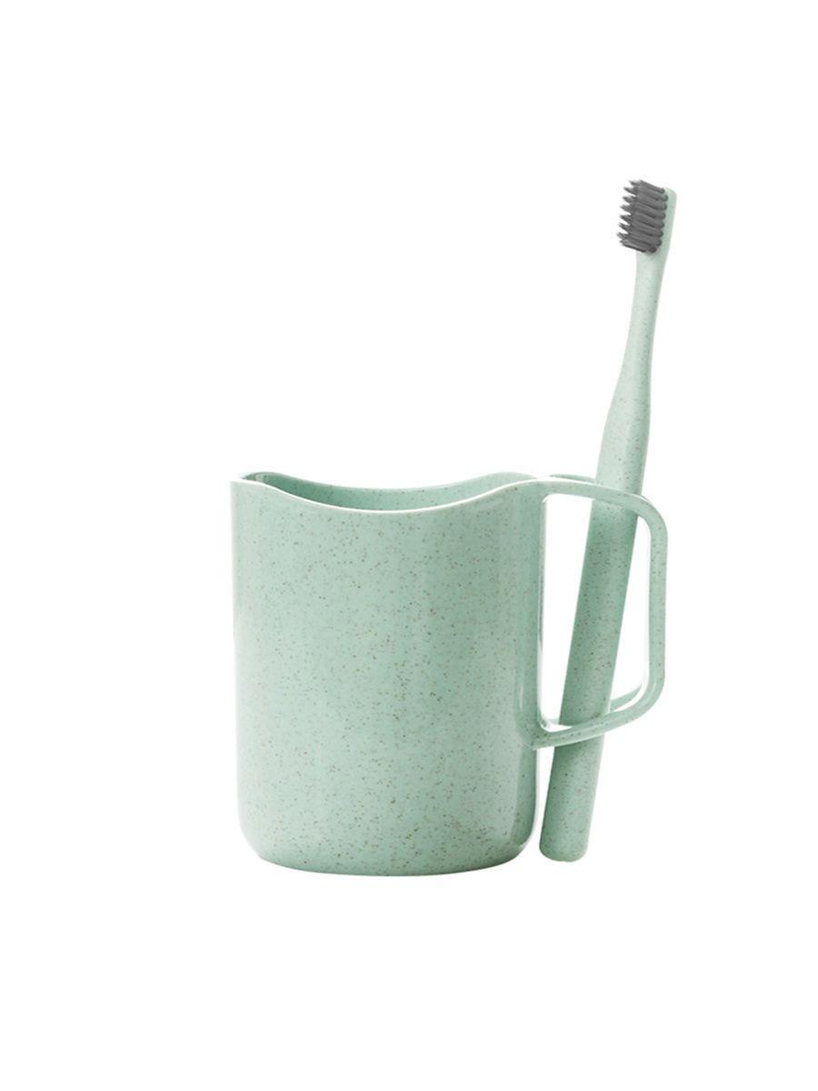 Кружка для чистки зубов с отверстием для щетки, зеленый