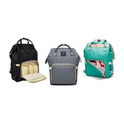 Сумка-рюкзак для мамы Baby Mo, цвет в ассорименте, Коралловый