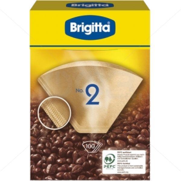 Фильтры бумажные, размер 2, 100 штук Melitta 200145Кофеварки и кофемашины<br>Бумажные фильтры Brigitta, разработанные именитой компанией Melitta - выбор настоящего гурмана, предпочитающего радовать себя не растворимым, а самым что ни на есть настоящим кофе, приготовленным в кофемашине.<br>