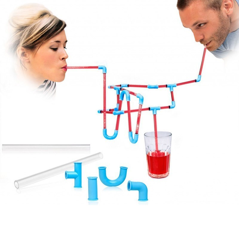 Набор трубочек Сделай сам DIYРозыгрыши<br>Набор для нескучных вечеринок. Превратите обычный процесс поглощения жидкости в увлекательное занятие. Такой набор сделает веселее и детский утренник и взрослую вечеринку.<br>