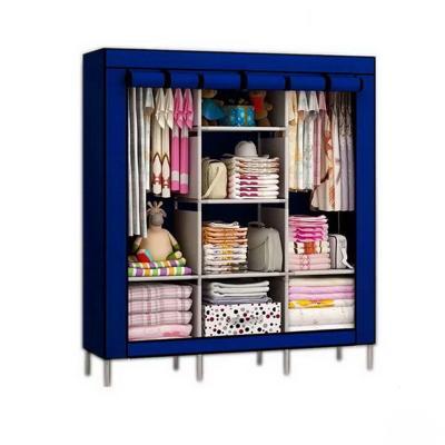 Мобильный тканевый шкаф Storage Wardrobe, син...