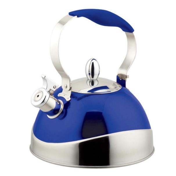 Чайник TECO 3,0 л, голубойЧайники металлические<br>Чайник со свистком «Teco» - выполнен из долговечной и прочной стали, которая не окисляется и устойчива к коррозии. Объем чайника составляет 3 литра, оснащен свистком, благодаря которому вы можете не беспокоиться о том, что закипевшая вода зальет плиту.<br>