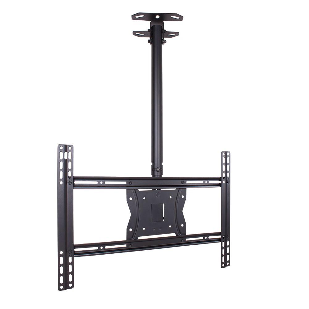 Кронштейн потолочный Kromax 4-COBRAКронштейны<br>Кронштейн потолочный Kromax 4-COBRA black для LED/LCD/PLASMA телевизоров, диагональ экрана (дюймы) 15-75,Нагрузка (кг): 65. Возможность крепления к наклонному потолку, Регулируемое расстояние от потолка min 815 mm max 1215 mm Надежная стальная конструкция максимальная нагрузка до 65 кг, кабель-канал.<br>