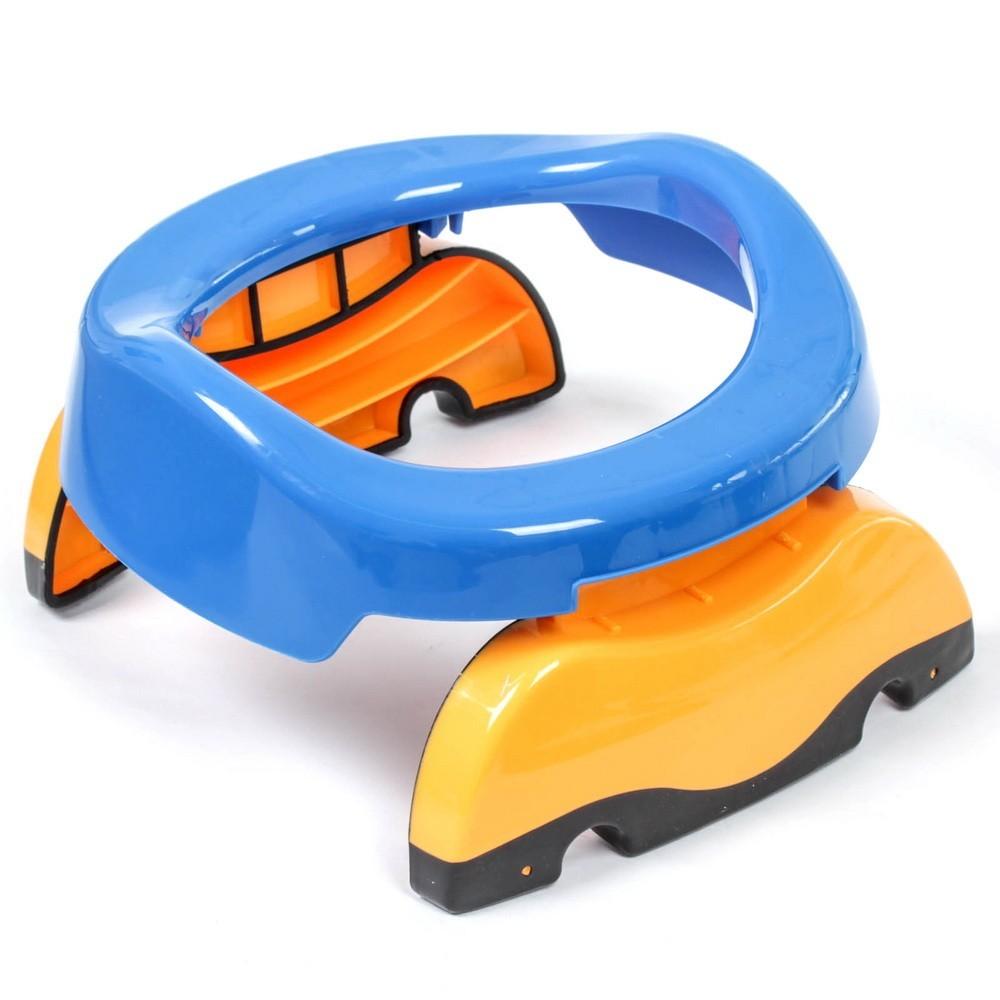 Горшок детский дорожный, складной, в комплекте 10 одноразовых пакетов, Голубой