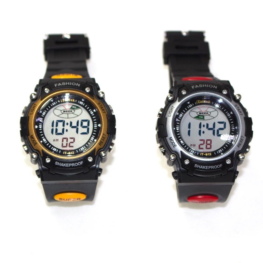 Яркие спортивные цифровые часы iTaiTek 812Спортивные LED часы<br>Увлечение активными видами спорта и путешествия – это не повод отказывать себе в стильных и полезных аксессуарах. Яркие спортивные цифровые часы iTaiTek 812 станут настоящей находкой для вас, ведь позволят даже читать в темноте в палатке, благодаря дисплею с яркой подсветкой.<br>