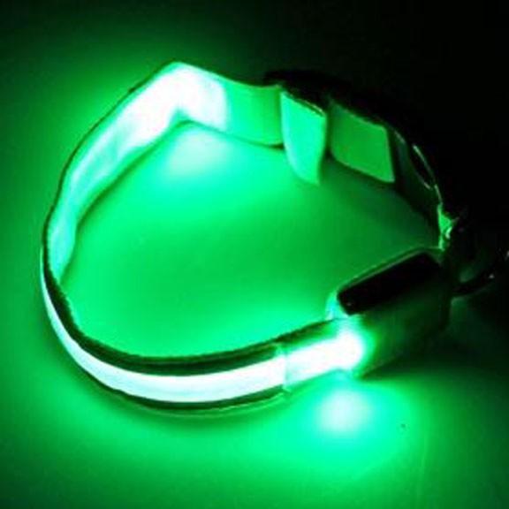 Светящийся ошейник со светоотражателем - 38-40 см, зеленый от MELEON
