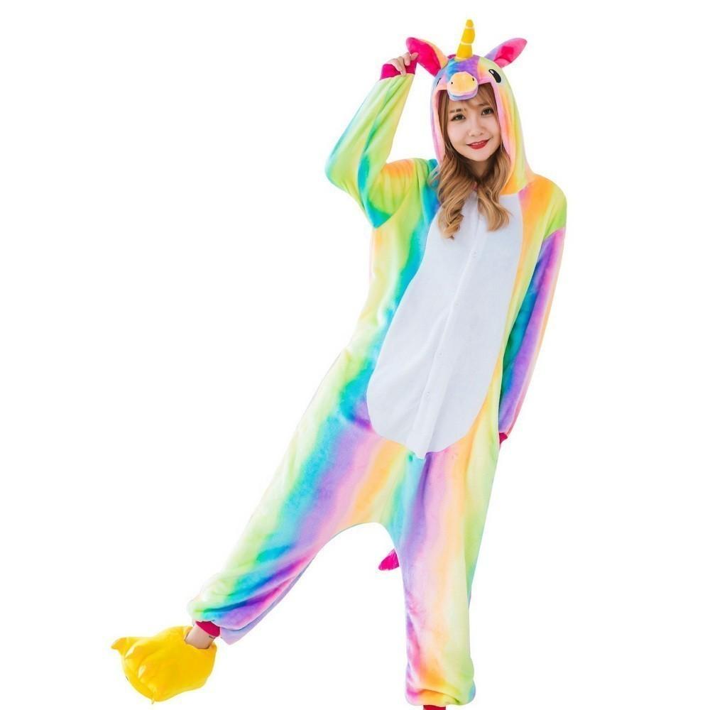 Пижама кигуруми Радужный единорог, взрослый, L фото