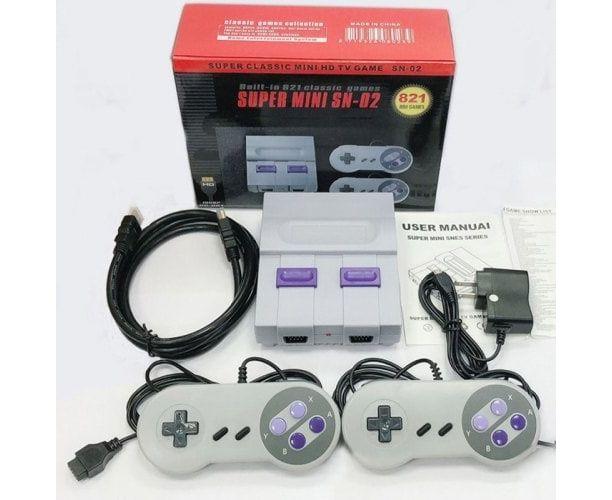 Игровая приставка Super Mini SN-02 (HDMI), 821 классических игр