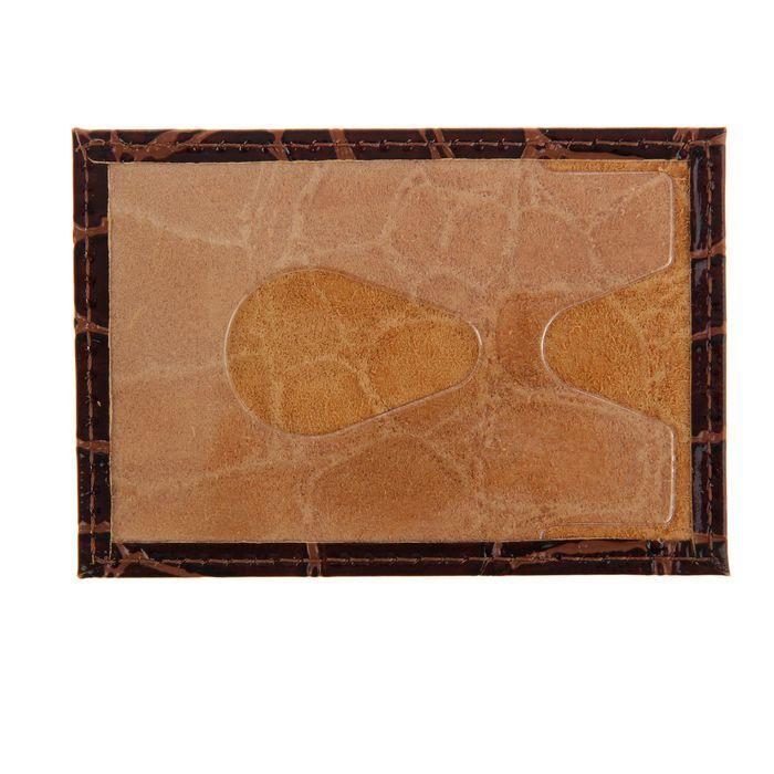Футляр для банковской карты, кожа - коричневый крокодил от MELEON