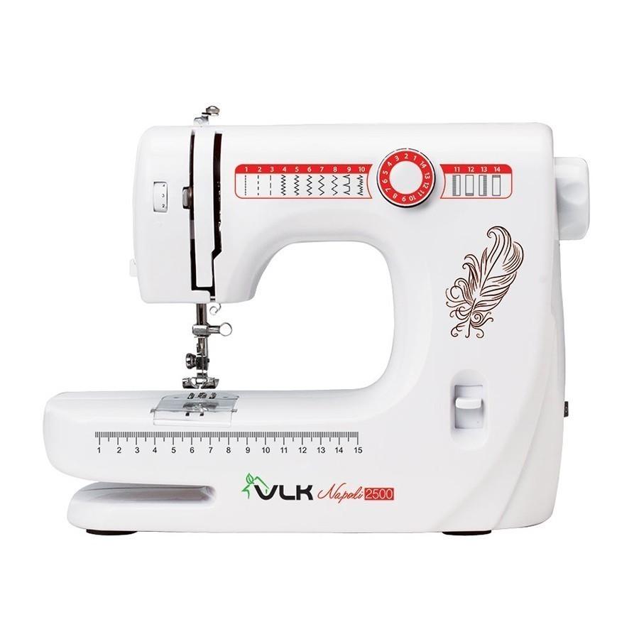 Швейная машина Napoli VLK-2500 - белыйШвейные машинки и наборы для шитья<br>Ремонт одежды и воплощение в жизнь любых творческих идей станут доступными для вас, благодаря революционной швейной машине Napoli VLK-2500 белого цвета. А если вы никогда не умели шить, но всегда хотели научиться, то это устройство станет незаменимым помощником по доступной цене!<br>