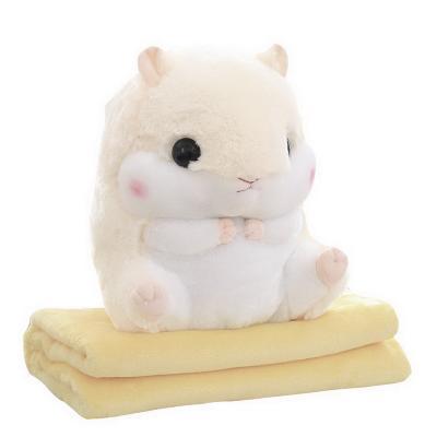 Плед-подушка хомяк 3 в 1, белый