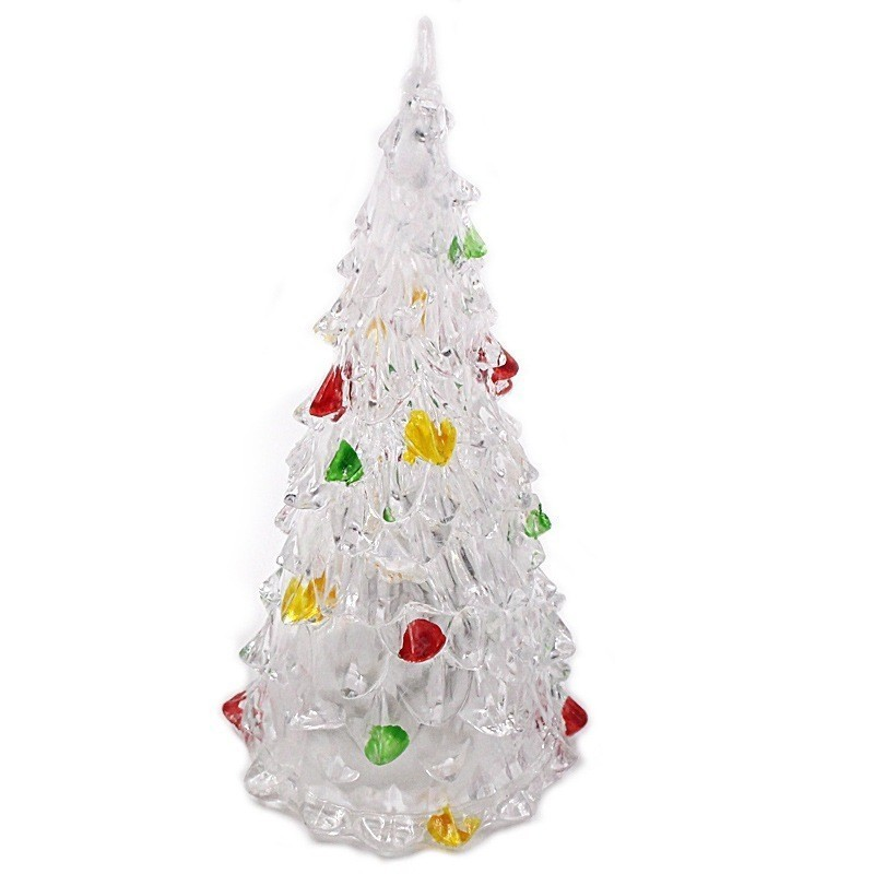 Светящаяся светодиодная ёлочка с шишками Marry Christmas, 8 см
