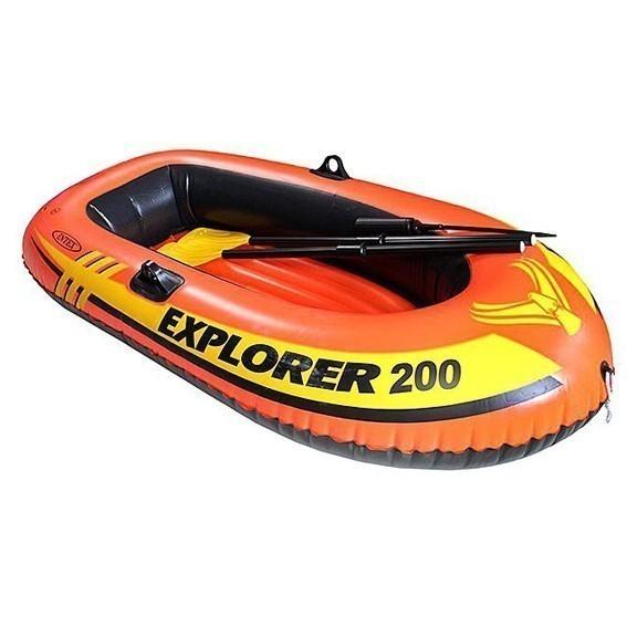 Лодка Explorer 200 двухместная до 95 кг, 185х94х41 см, от 6 летДля отдыха на воде<br>Explorer 200 – отличный выбор для двух юных капитанов или одного опытного рыбака. Если вы решили научить своих детей судоходству или собираетесь порыбачить в одиночестве, это ваш вариант! Эта лодка выдерживает вес до 95 кг - двух детей или одного взрослого.<br>