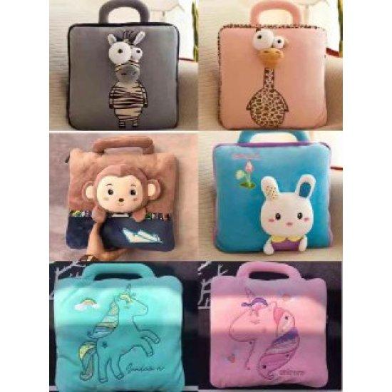 Детский плед-сумка 100*160, заяц фото