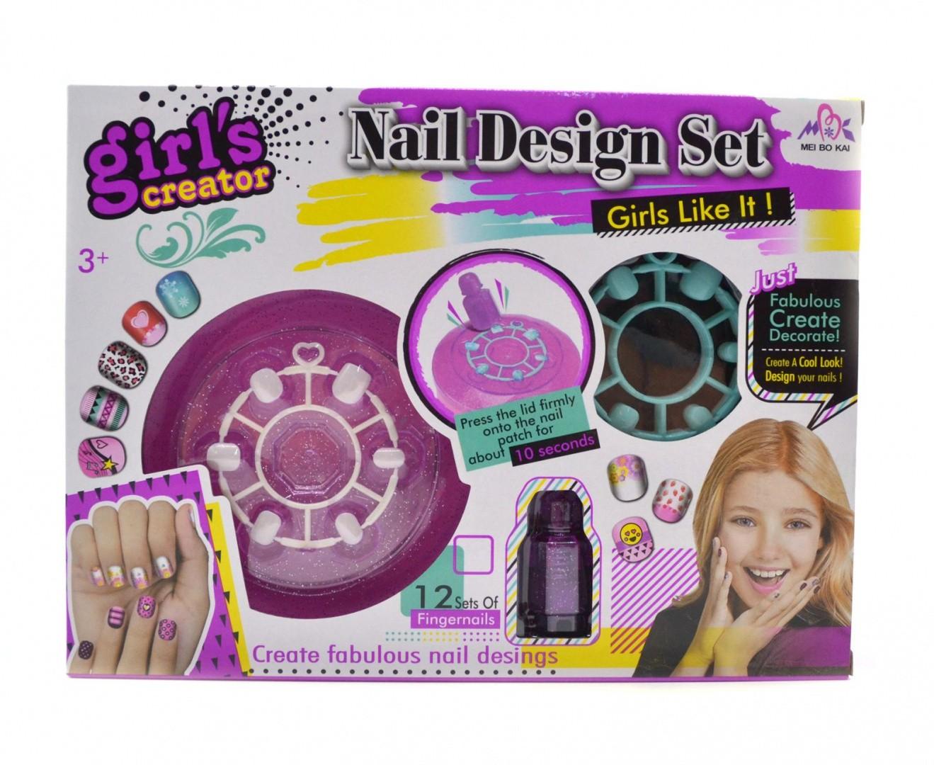 Детский набор для маникюра с накладными ногтями Nail Design Set