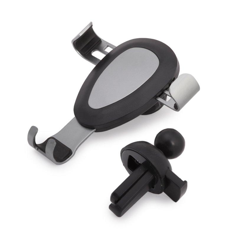 Держатель в автомобиль для телефона «LP» универсальный в воздуховод «Gravity Metal» (серый)