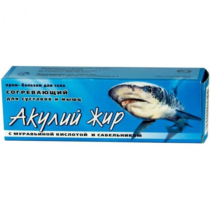 Акулий жир с Муравьиной кислотой и сабельником - кремКрема и бальзамы<br>Уникальное сочетание компонентов для быстрого лечения болей в суставах, по народным рецептам моряков. Одобрено и тестировано врачами.<br>