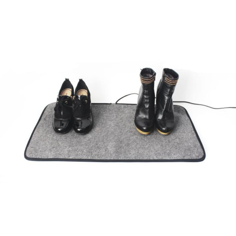 Коврик из ковролина с подогревом для сушки обуви и обогрева - Сухое Тепло, 55х33 см, серый