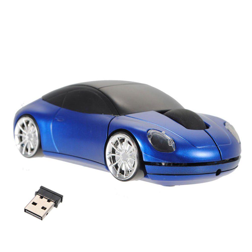 Беспроводная мышь в форме машины Porsche, Синий фото