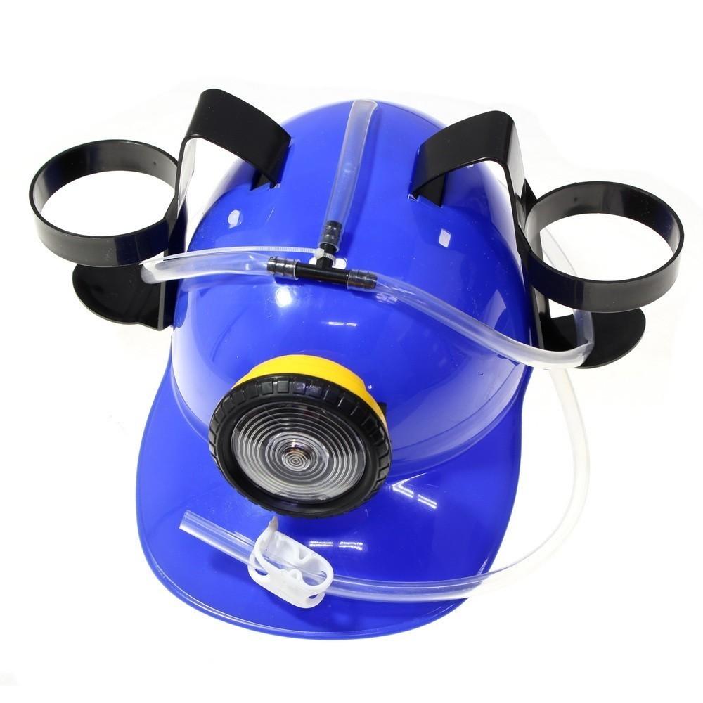 Каска с подставками для банок с фонариком