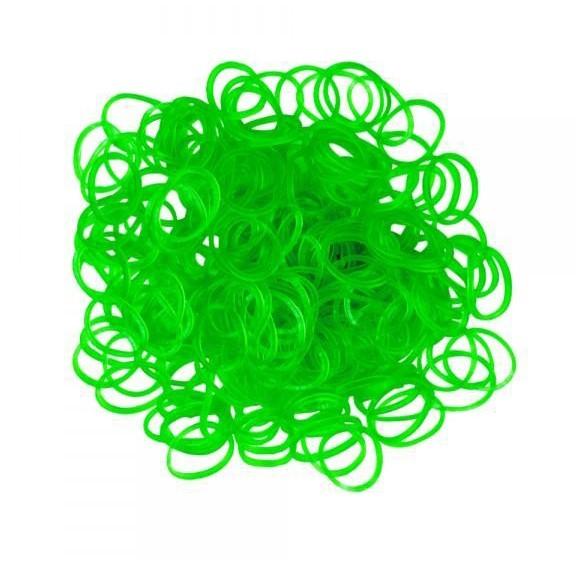 Набор резинок Rubber Band - 600 шт, зеленыйТеперь вам хватит и на браслеты, и на поделки, и даже на одежду, ведь набор резинок Rubber Band состоит из 600 штучек! Создавайте шедевры, не боясь, что резиночки закончатся.<br>