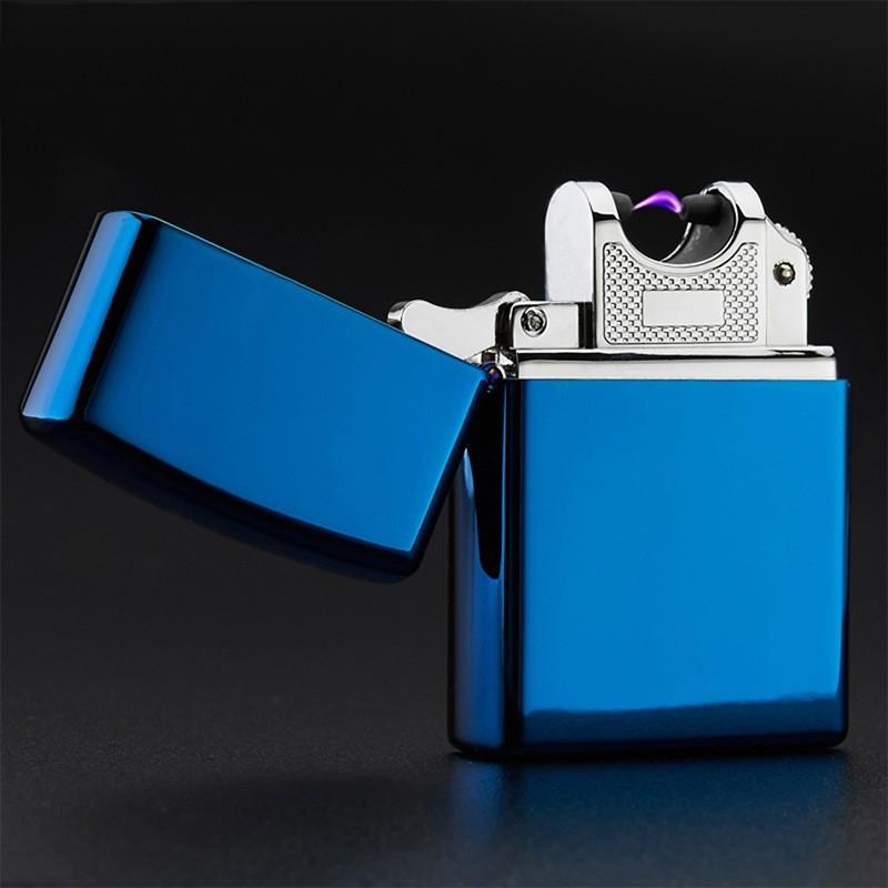 USB зажигалка электроимпульсная, Синий