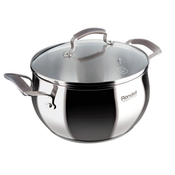 Кастрюля с кр. 18 см 2,4 л CharmКастрюли<br>Небольшая, но необходимая в хозяйстве кастрюля Rondell Charm превосходно впишется в пространство вашей кухни.<br>