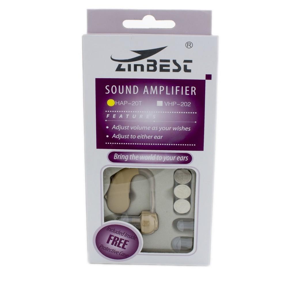 Слуховой аппарат Zinbest HAP-20Слуховые аппараты<br>К сожалению, проблемы со слухом сейчас преследуют не только пожилых людей, но и молодежь. Если вы столкнулись с подобной проблемой, то не стоит отчаиваться! Слуховой аппарат Zinbest HAP-20 поможет вас слышать не только своих собеседников, но и наслаждаться при желании любыми звуками природы!<br>