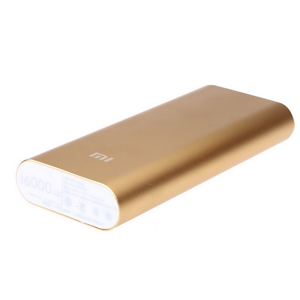 Power Bank XIAOMI, 16000 mAh, золото