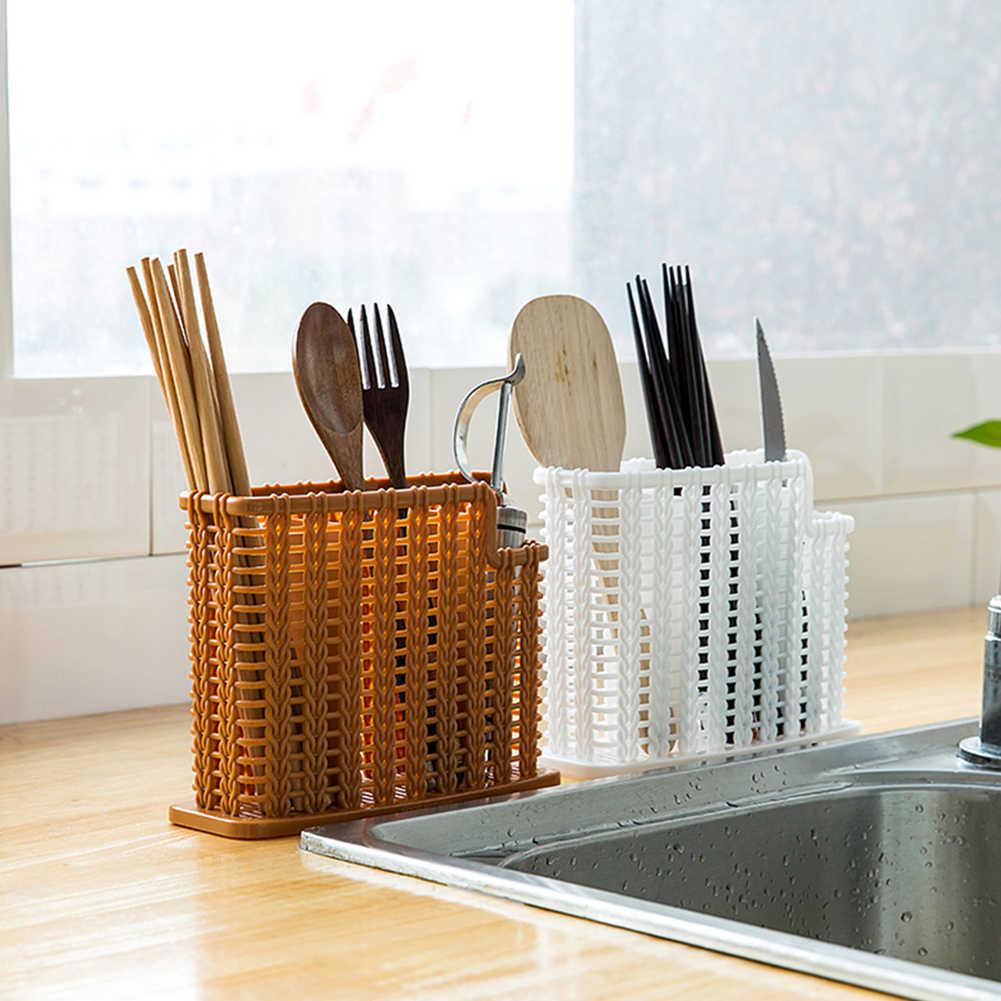 Плетеный органайзер для кухни, коричневый