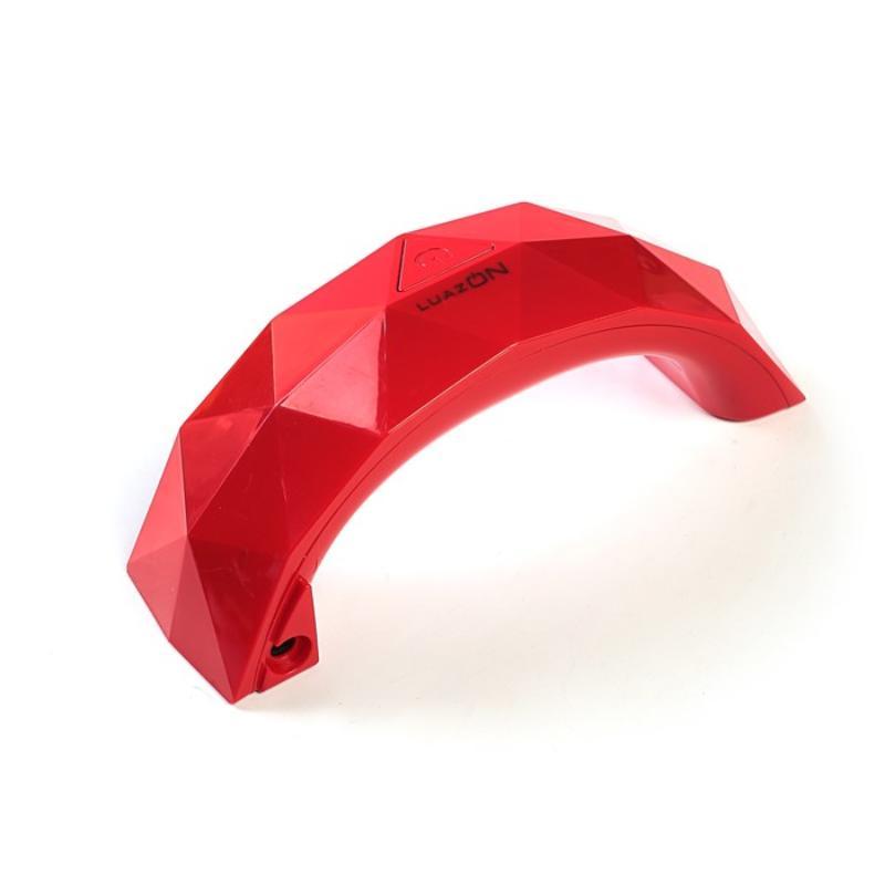 Лампа для гель-лака LuazON, USB, 3 диода, цвет красная